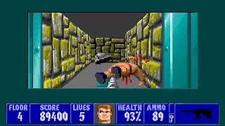 [MS-DOS] Wolfenstein 3D - Floor 4 (Episode II)