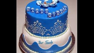 украшение двух этажного торта.