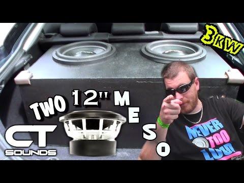 Ct Sounds Woofer Porn & Blowing A Skar Audio Subwoofer   12 Meso Subs & Ct3000.1d Bass Amp video