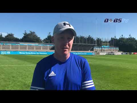 St Vincents manager Cathal Fallon speaks to Dubs TV after draw with Lucan Sarsfields