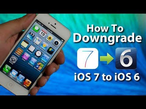 How To Downgrade iOS 7 To iOS 6.1.3 & 6.1.4 On iPhone 5/4S/4 & iPod Touch 5G