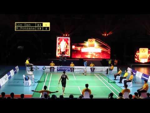Lin Dan Vs Boonsak Ponsana # Badminton Thai Glory To The King 2014 video