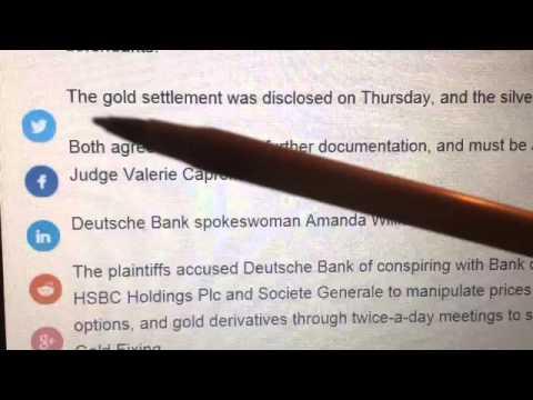 Conspiracy Theorists were right Deutsche Bank Rigged Gold & Silver Market