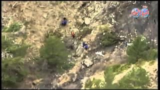 شاهد  مكان سقوط الطائرة الألمانية في جبال الألب بفرنسا