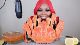 WHOLE GIANT KING CRAB MUKBANG