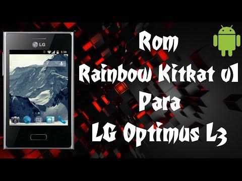 Rom Rainbow Kitkat V1 CM9 Para LG Optimus L3 E400 / 1GB Para APP / Android 4.0.4