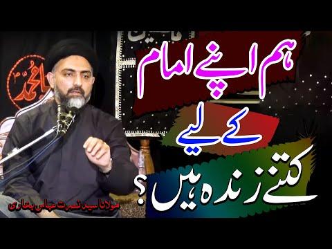 Hum Imam (a.s) K Leaye Kitnay Zinda Hain..? | Maulana Syed Nusrat Abbas Bukhari | 4K