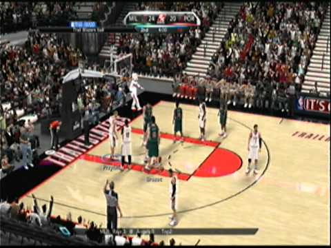 NBA 2k10 - th3PERFECTSTORM (Blaze) -vs- boltokPwnage (Bux) - 1st Half Video