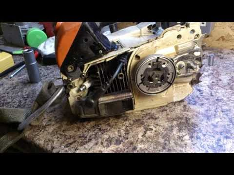 Stihl MS200 Chainsaw Sprocket & Clutch Removal. Inspection & Refit