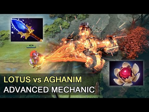 Lotus Orb vs Aghanim's Scepter — advanced mechanics Dota 2