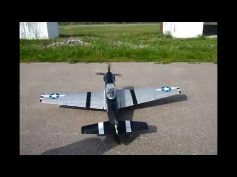 Mustang P51 XL  -  RC plane maiden flight