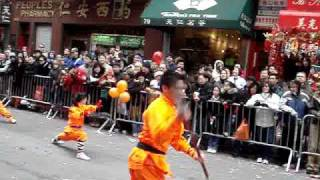 2008 chinatown new year parade, kung fu