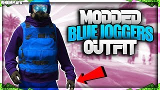 GTA 5 Blue Joggers TryHard/RnG Modded Outfit Using Clothing Glitches 1.46!