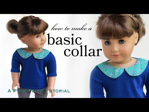How To Add A Collar To A Doll T-Shirt or Dress Fits American Girl!