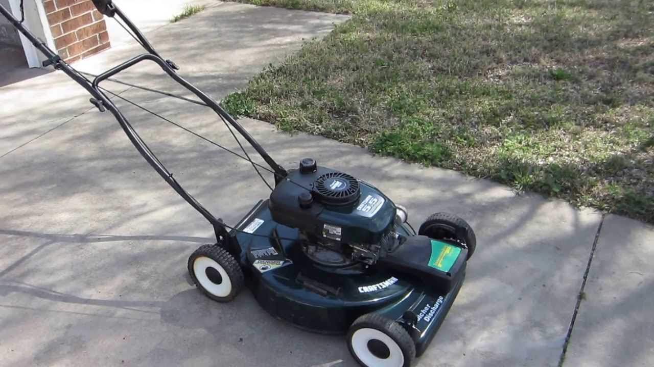 Craftsman 21 Inch Self Propelled Mulching Lawn Mower Youtube