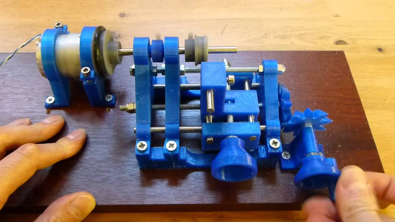 3d printed lathe in operation youtube for Made with 3d printer