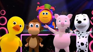 Bob o trem | Canção de som animal | Bob The Train | Animal Sound Song | Rhyme For Kids | Baby Song