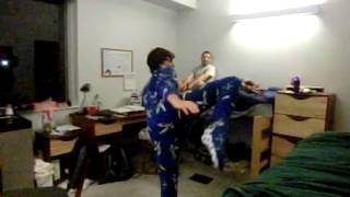 Footsie Pajama Karate SLOW MOTION