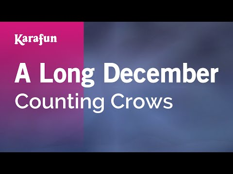 Karaoke A Long December  Counting Crows *