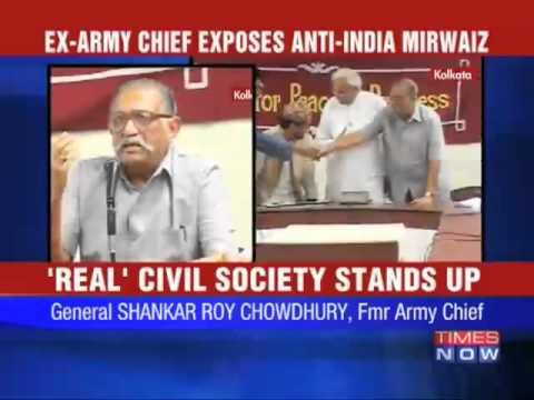 Ex-Army chief exposes Mirwaiz Umar Farook
