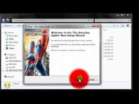สอนโหลด The Amazing Spiderman เล่นได้ 100%