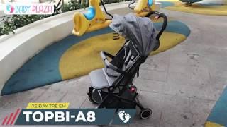 Xe đẩy TOPBI A8 có tay kéo gấp cực gọn || Baby Plaza