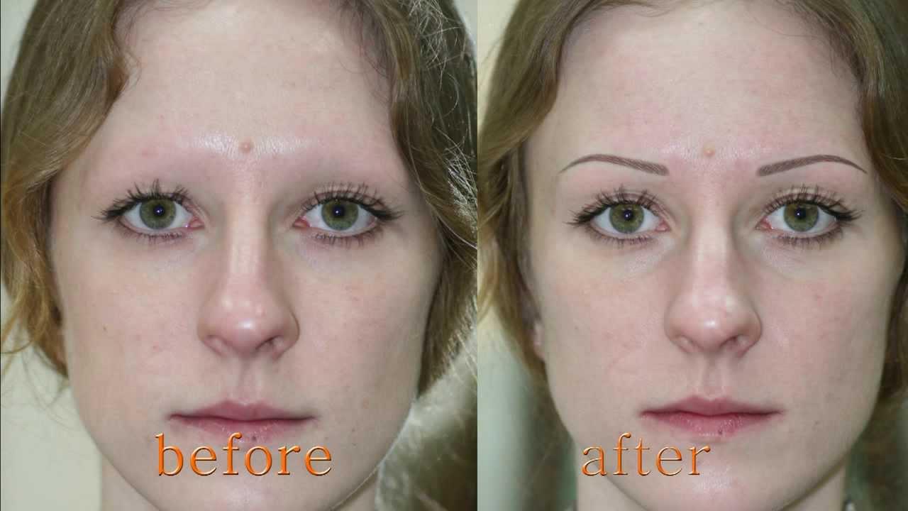 alina soloveva permanent makeup of eyebrows youtube