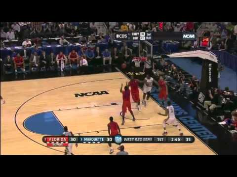 2012 Sweet 16: (7)Florida Gators vs. (3)Marquette Golden Eagles