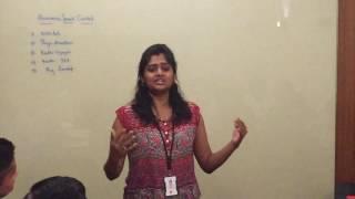 INFOSYS Singapore toastmasters club Priyadharshini humorous speech
