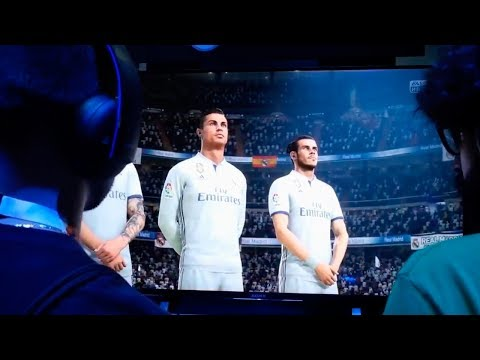 FIFA 18 GAMEPLAY OFICIAL REAL MADRID VS MANCHESTER CITY