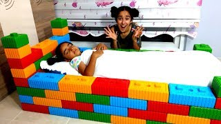 Esma made a toy bed funny for kids video