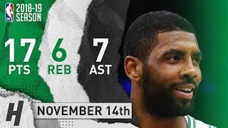 Kyrie Irving Full Highlights Celtics vs Bulls 2018.11.14 - 17 Pts, 7 Ast, 6 Rebounds!