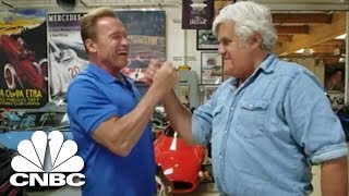 Arnold Schwarzenegger Shows Jay Leno His Mercedes Electric G-Wagen | Jay Leno's Garage | CNBC Prime