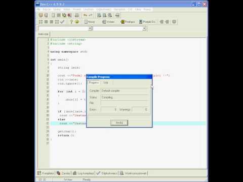 Video Kurs C++ - Algorytmy - tutorial mezczyzna czy kobieta