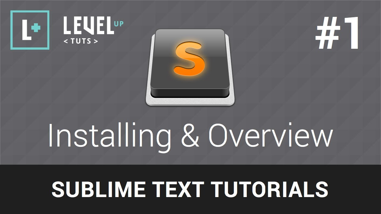 Sublime Text 2 Tutorials #1 - Installing & Overview - YouTube