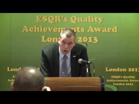 Plantagon from Sweden receiving ESQR's Quality Achievements Award 2013 ...