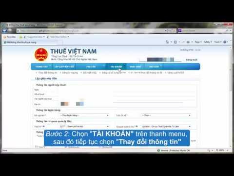 Hướng dẫn thay đổi thông tin tài khoản dịch vụ nộp thuế điện tử