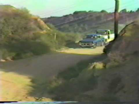 JUMPING OLD DATSUN 1800 ON MULHOLLAND DRIVE