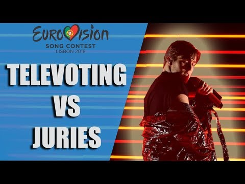 TOP 26   Biggest Differences between Televoting & Jury Voting   Eurovision 2018 Final