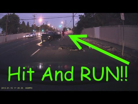 Drunk Driver Hit and RUN!!  Plus iPhone Siri 911 voice call FAIL!!