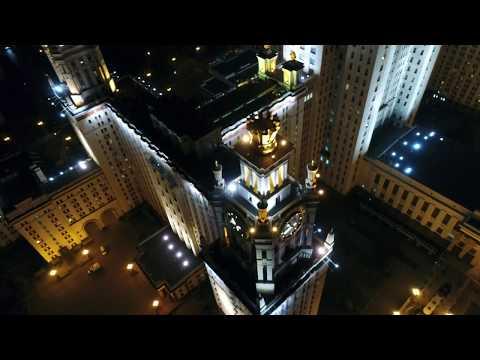 4К - аэросъёмка МГУ с квадрокоптера