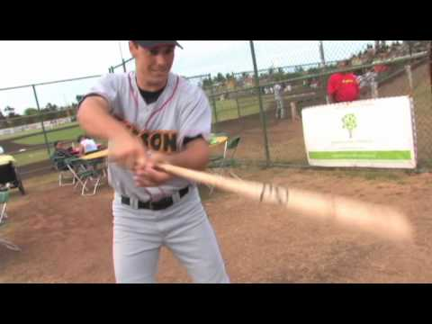 Josh Womack Spinning Bat Tricks on Maui - 07/21/10 Na koa ikaika Maui Baseball