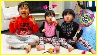Kids Candy Surprise Valentine's Day Haul with Ryan's Family Review