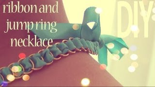 DIY Fashion ♥ Ribbon Jump Ring Necklace
