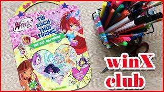 Đồ chơi Sách trò chơi winX dán hình, tô màu, giải câu đố Thế giới đại dương WinX Club Book (ChimXinh