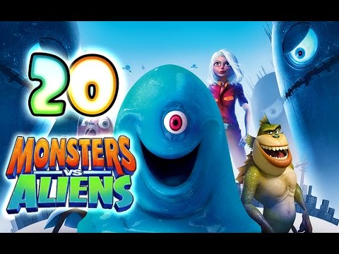 Monsters VS Aliens Walkthrough Part 20 (PS3. X360. Wii. PS2) ~ Ginormica Level 20