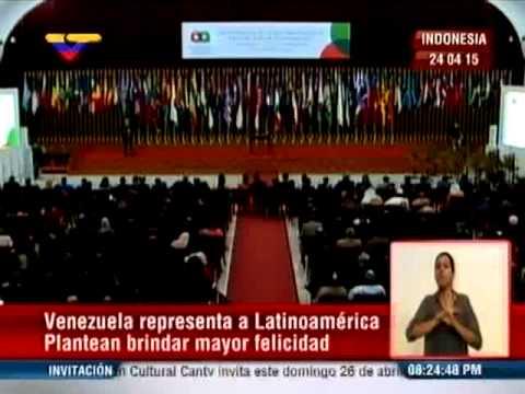 Arreaza da discurso en la Cumbre Asia África en Indonesia