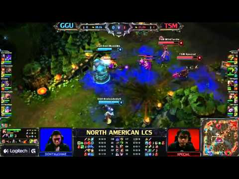 Good Game University vs Team Solo Mid LCS 2013 NA Spring W7D2 FULL GAME