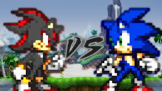 [Sprite Fight] - Sonic VS Shadow