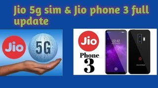 Jio 5g sim & Jio phone 3 update